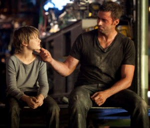 Dakota Goyo and Hugh Jackman