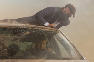 Tom Cruise, as Ethan Hunt, in a Sandstorm
