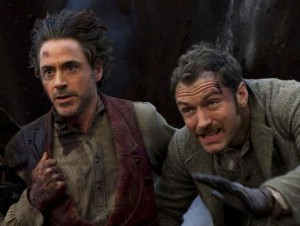 Robert Downey Jr. and Jude Law in Sherlock Holmes 2